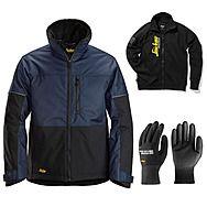 Snickers 1148 AllRound Winter Jacket + Gloves & Sweatshirt | Navy/Black