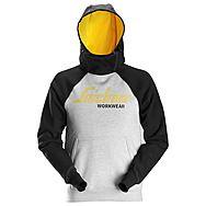 Snickers 2889 Grey Melange/Black Logo Hoodie