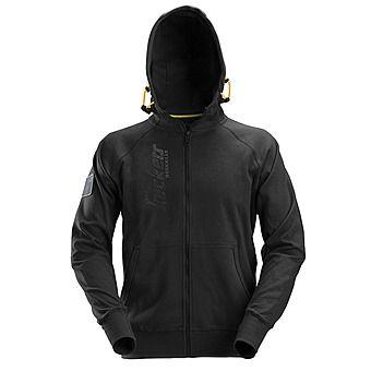 Picture of Snickers 2880 Black Full Zip Logo Hoodie