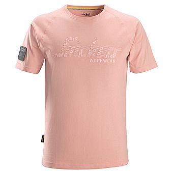 Picture of Snickers 2580 Devon Pink Logo T-Shirt