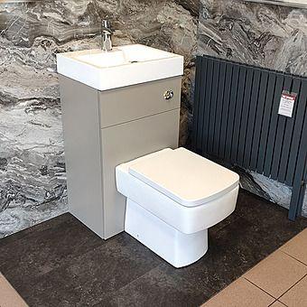 Premier Athena 50cm Floor Standing 2-In-1 WC & Vanity Unit Stone Grey