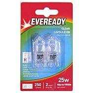 Eveready G9 Clear 25W Capsule Bulbs x 2