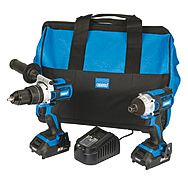 Draper D20 Brushless Twinpack Combi Hammer Drill & Impact Driver 20V 2 x 2.0Ah Batteries