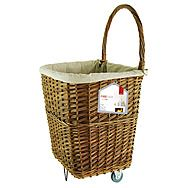 Deville Large Natural Wicker Firelog Cart