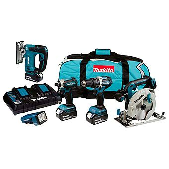 Makita DLX5043PT 18V 5 Piece Powertool Kit 3 x 5.0Ah Batteries