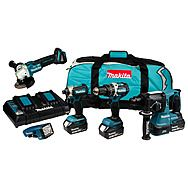 Makita DLX5042PT 18V Cordless Powertool Kit With 3 x 5.0Ah Batteries