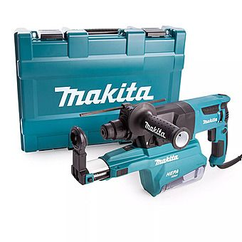 Picture of Makita HR2650 230V 26mm 2KG SDS+ Rotary Hammer Drill With Dust Collection System