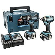 Makita DLX2131MJ 18V Combi Drill & Impact Driver with 2 x 4.0Ah Batteries