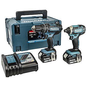 Makita DLX2131MJ 18V Combi Drill & Impact Driver with 2 x 4.0Ah Batteries