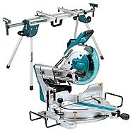 Makita LS1019 260mm Back-To-Wall Mitre Saw With Rolling Stand