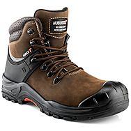 Nubuckz NKZ102BR Brown Safety Boots S3 HRO WRU SRC