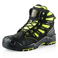 Buckbootz Buckzviz BVIZ2 YL BK Safety Boots High-Viz Black & Yellow S3 HRO WRU SRC
