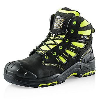 Picture of Buckbootz Buckzviz BVIZ2 YL BK Safety Boots High-Viz Black & Yellow S3 HRO WRU SRC