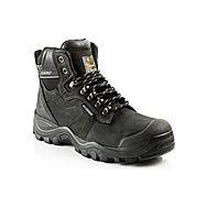 Buckshot Steel Toe Safety Boots Black Crazy Horse Leather S3 HRO WRU SRC
