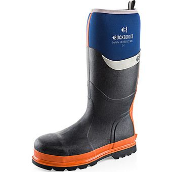 Picture of Buckbootz S5 Safety Wellington Boots Blue HRO WRU CI SRC