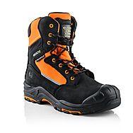 Buckbootz Buckzviz High Leg Lace/Zip Safety Boot Orange/Black S3 HRO WRU SRC