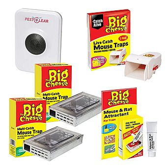 STV The Big Cheese Live Catch Mouse Trap & Repeller Value Pack