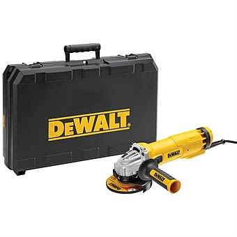 Picture of DeWalt DWE4206K 115mm Small Corded Angle Grinder 1010w with Kitbox
