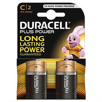 Duracell Plus C Batteries 2pk