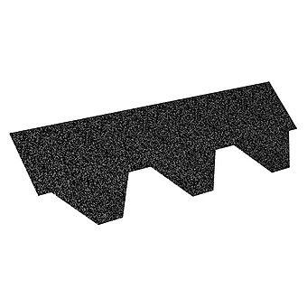 Iko Black Hexagon Shingles 3 Square Metres