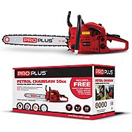 "Proplus 20"" Petrol Chainsaw 50cc 2 Stroke Engine & Safety Accessories"