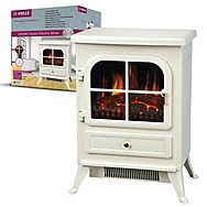 De Vielle Classic Cream Small Electric Stove 1800 Watt