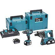Makita DLX2137PMJ Hammer Drill Twinpack 36v Rotary & 18v Combi 4 x 4.0Ah Batteries