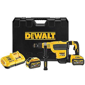 DeWalt DCH614X2 FlexVolt SDS-Max Rotary Hammer Drill 45mm 6kg 2 x 9.0Ah 54v Batteries