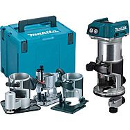 "Makita DRT50ZJX3 Cordless 1/4-3/8"" 18v Router/Trimmer With 4 Bases Body Only"