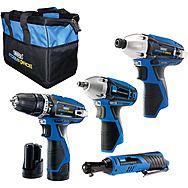 Draper 93446 4pc 10.8v Cordless Power Tool Kit