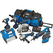 Draper 90473 D20 20V 7 Piece Cordless Mega Power Tool Kit