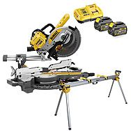 DeWalt DCS727T2 54v XR FlexVolt 250mm Mitre Saw & Stand & 2 x 6.0Ah Batteries