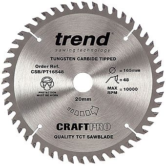 Trend CSB/PT16548 165mm Plunge Saw Blade TCT 48T