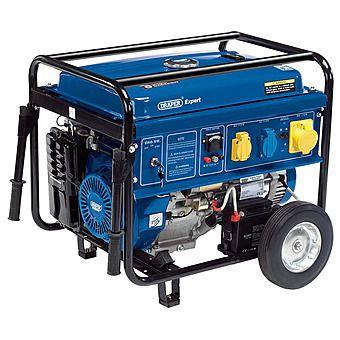 Draper 23987 5.0KW Petrol Wheeled Generator 5.5KVA 110V & 230V