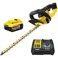 DeWalt DCMHT563P1 18v XR Cordless 55cm Hedge Trimmer 25mm Gap & 5.0Ah Battery