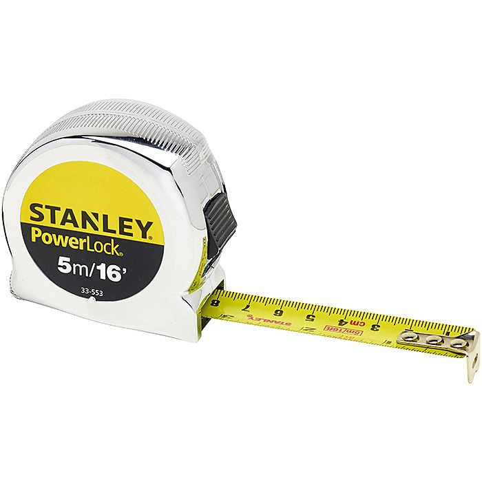 19mm Wide Blade Stanley 033553 Powerlock Classic Tape Measure 5m//16ft