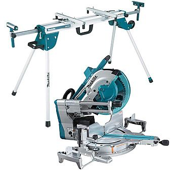 Makita DLS211ZU 305mm Cordless 2x18v Mitre Saw Body Only & Stand