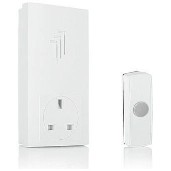 Byron Wireless Plug-Through Door Bell Chime 30m