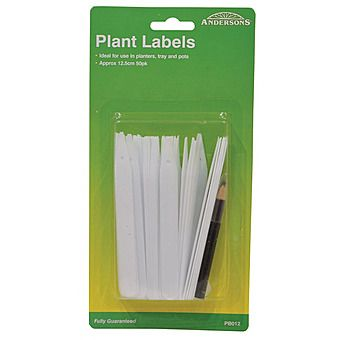 125mm Plant Labels With Pencil (Pack of 25)