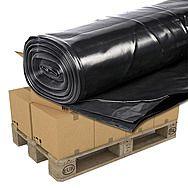 Pallet Of 50 Rolls Of Black Polythene 4m x 25m