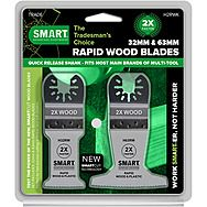 SMART 2 Piece Rapid Wood Multi-Tool Blade Kit 32 & 63mm