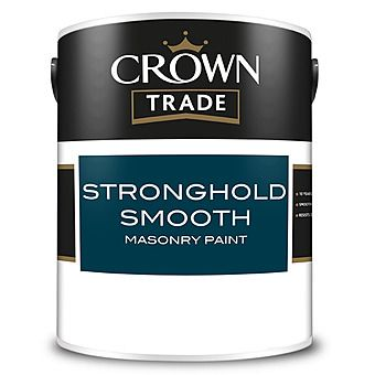 Crown Trade Stronghold Smooth White Masonry Paint 10L