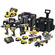 DeWalt 8 Piece ALL Brushless 18v Kit 3 x 5.0Ah XR Batteries DCK755P3T + DCP580
