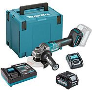 Makita GA005GD101 40Vmax XGT 125mm Slide Switch Angle Grinder 2.5Ah Battery