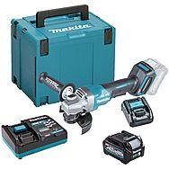 Makita GA013GD101 40Vmax XGT 125mm Paddle Switch Angle Grinder 2.5Ah Battery