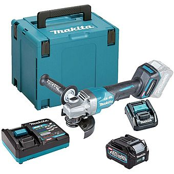 Makita GA013GD101 40Vmax XGT 125mm Paddle Switch Angle Grinder 2.5Ah Battery