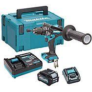 Makita HP001GD102 40Vmax XGT Combi Hammer Drill 2.5Ah Battery