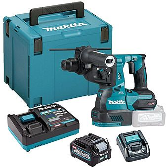 Makita HR003GD101 40Vmax XGT SDS Plus Rotary Hammer Drill 2.5Ah Battery
