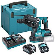 Makita HR004GD101 40Vmax XGT SDS Plus Rotary Hammer Drill With Quick Change Chuck & 2.5Ah Battery