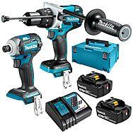 Makita DLX2214TJ 18V Brushless Combi Drill & Impact Driver Twinpack 2 x 5.0Ah Batteries